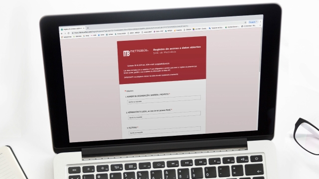 Registro de acceso a datos abiertos de Metrobús